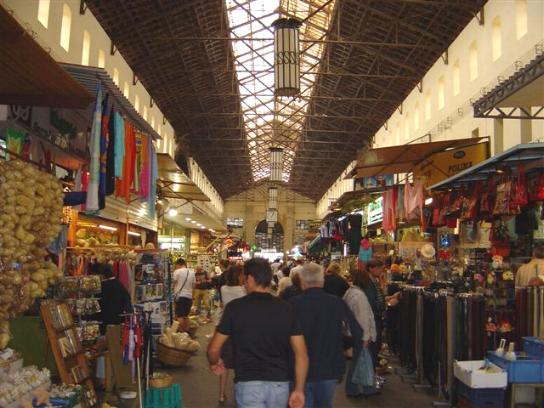 The famous market in Chania