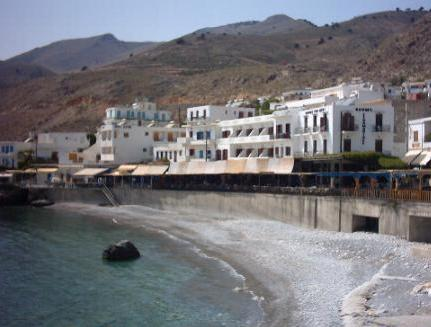 The townbeach at Chora Sfakion.