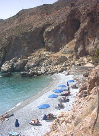 The beach at Chora Sfakion