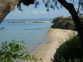 Het strand voor de deur