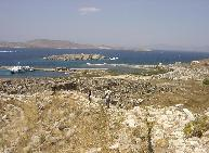 View over Delos island