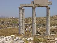 Het eiland Delos, pilaren