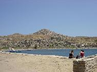 Delos island harbour