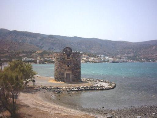 Windmill on the peninsula of Spinalonga