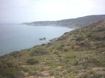 Onderweg naar Korfos Beach