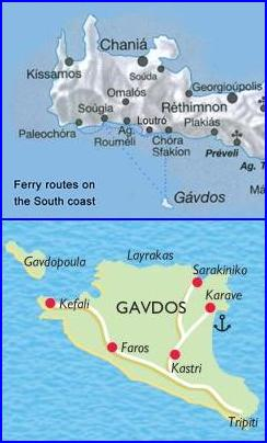 plattegrond van Gavdos