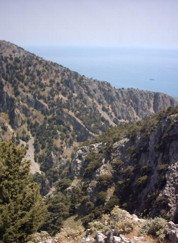 The Imbros Gorge from above