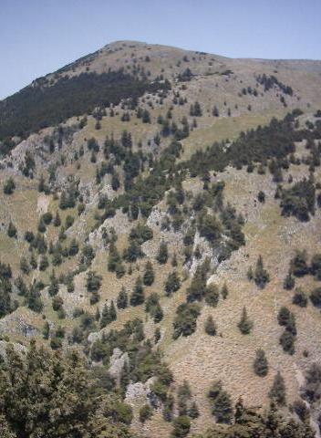 De Imbros kloof van bovenaf gezien