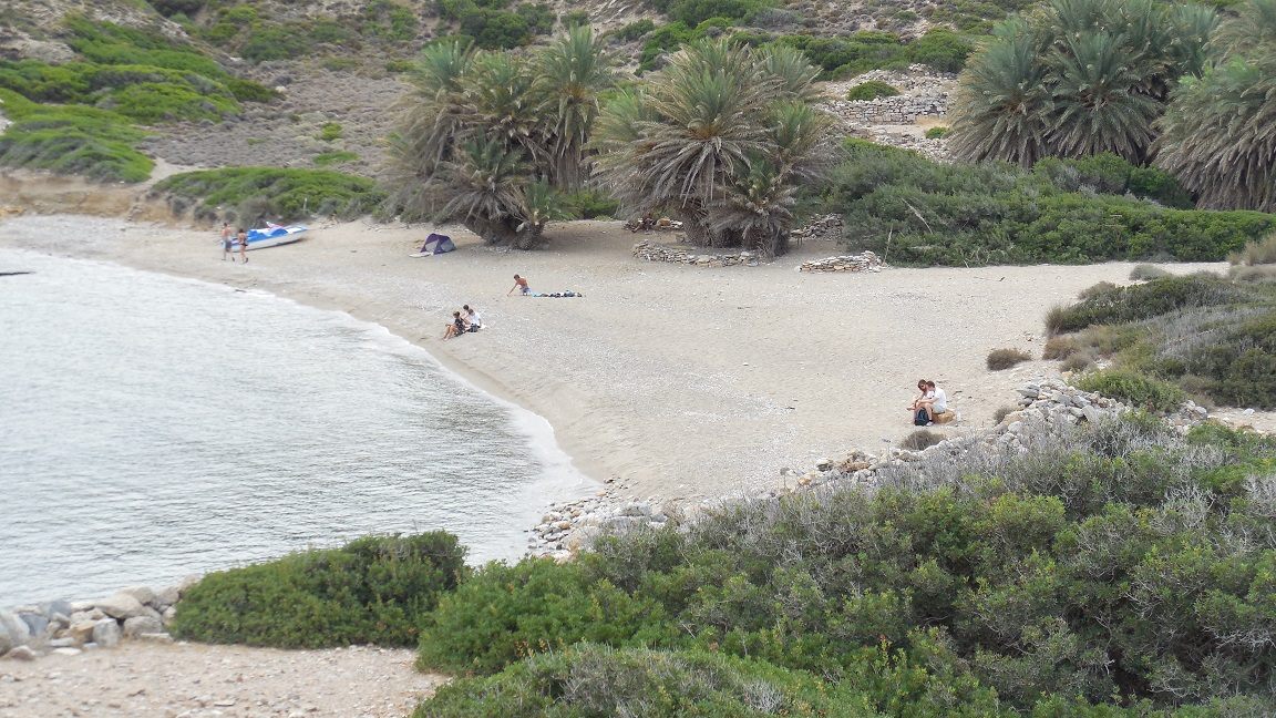 The main beach at Itanos.