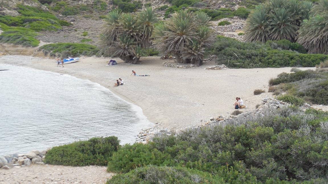 Het hoofdstrand van Itanos.