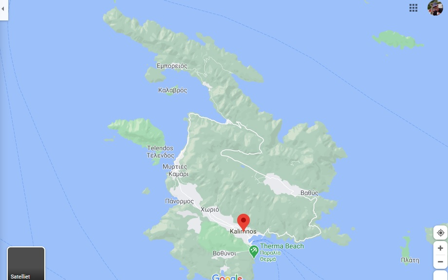 Islands Of Greece Map.Kalymnos Island Map Dodekanese Greece