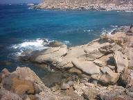 The rocks along the coastline between Agios Ioannis and Kapari.