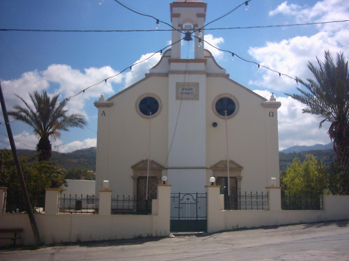 The church in the village of Kasteli.