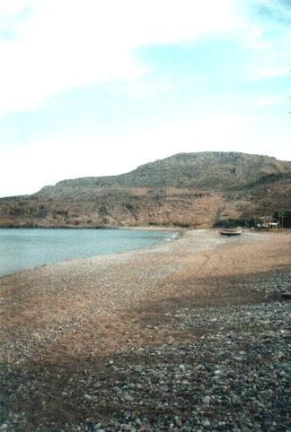 The beach at Kato Zakros
