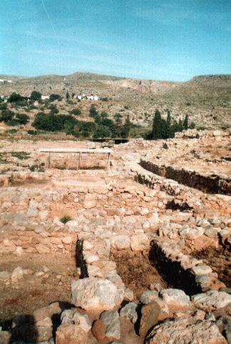 The ancient palace of Kato Zakros .