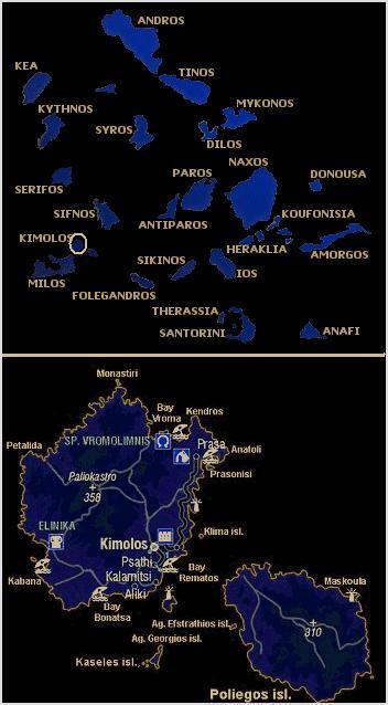 Kimolos map