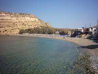 het strand, Matala beach.
