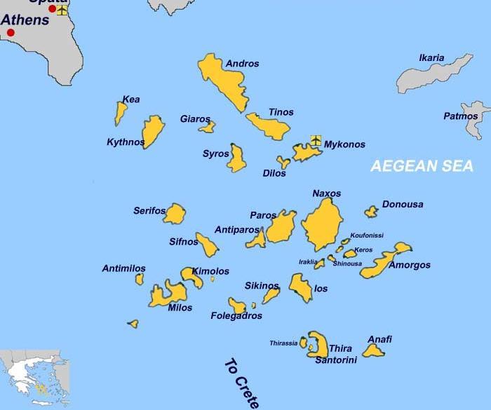 Map of Crete, Plattegrond van Kreta