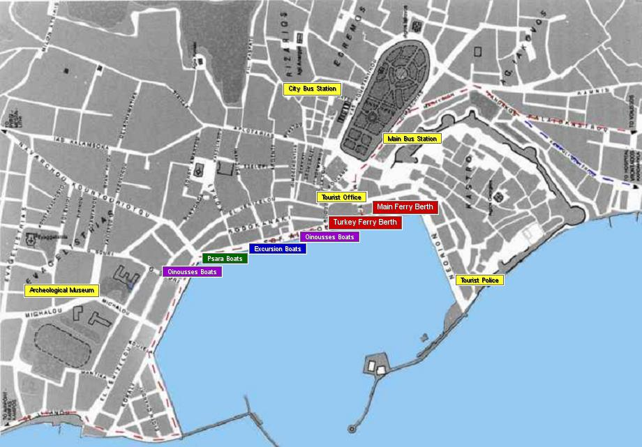 Map Chios town