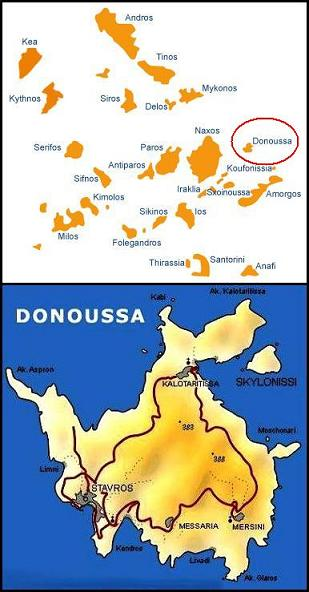 Donoussa map