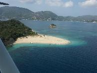 Marathonissi eiland vanuit de lucht