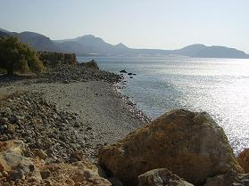 Beach near Moni Kapsa, southeast Crete