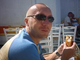 Mijn vriend Maxim in Mykonos stad