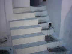 Trappen in Mykonos stad