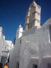 Een kerk in Mykonos stad