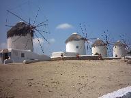 The windmills in Mykonos town
