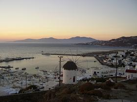 Sunset in Mykonos town