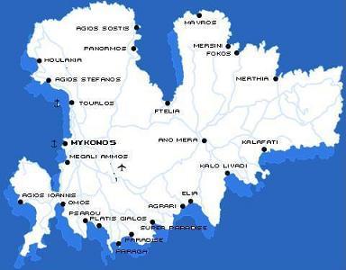 Mykonos plattegrond