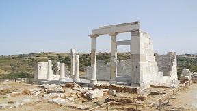 Een blik op Paros vanaf Agios Prokopios op Naxos.