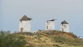 Vivlos windmills in Naxos.