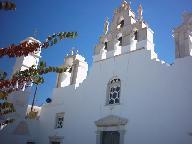 Een kerk in Naxos stad