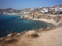 Het strand tussen Platis Gialos en Paranga
