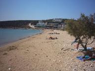Strand in de buurt van Alyki