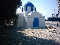 The church in the harbour of Parikia