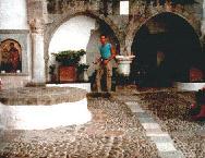 Ik in het klooster van Patmos