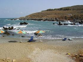 Petres beach, Crete