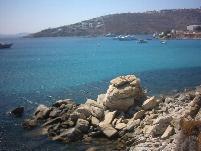 Platis Gialos Bay.