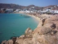 Platis Gialos Beach.