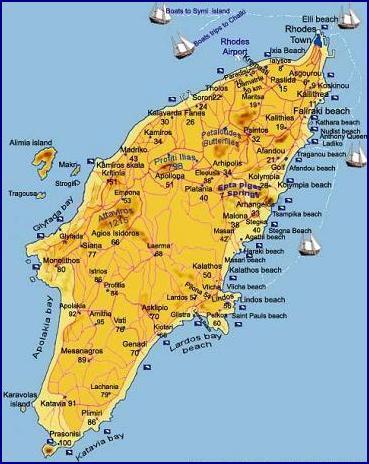 rhodos plattegrond