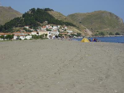 Lesbos, Skala Eressos Beach strand
