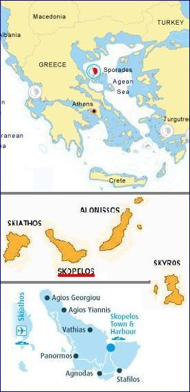 map of Skopelos