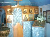 Binnen in de kerk van Agios Sostis