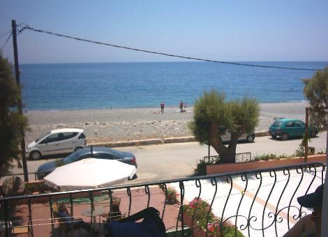 A view from our balcony in Sougia.