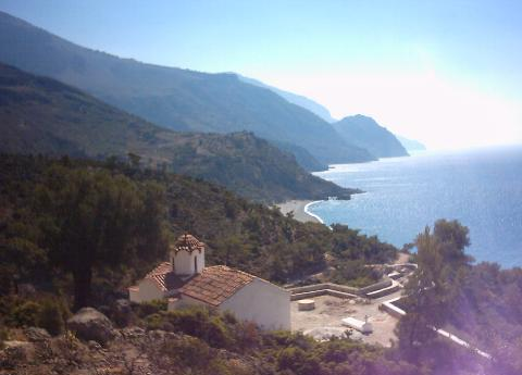 Views from the mountain at Sougia