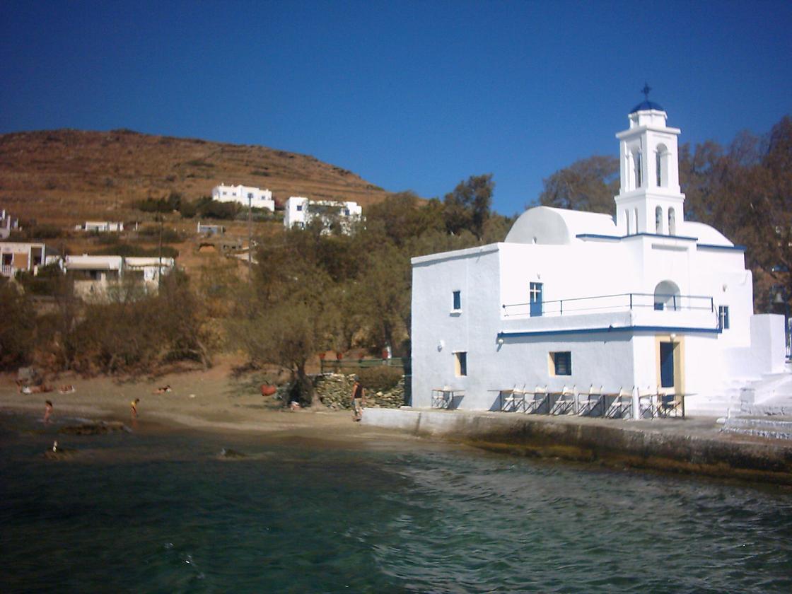 Stavros beach op Tinos, Griekenland