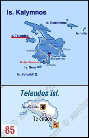 Map of Telendos, Plattegrond Telendos